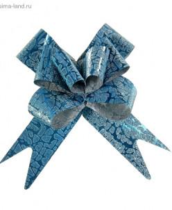 """Бант-бабочка № 3 """"Питон"""", цвет голубой"""