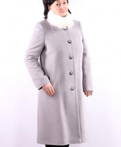 Пальто утепленные Кашемир Св. серый
