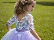 новые праздничные платья в пол для девочек.