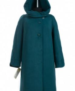 02-0391 Пальто женское утепленное Кашемир Малахит