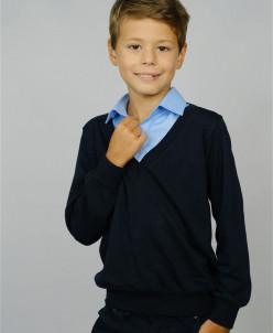 Обманка-джемпер Unik Kids т-синий с голубым