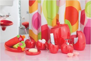 Nora (красный) Лоток для полотенец, полимер