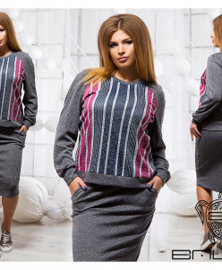 Элегантный юбочный костюм - 17585