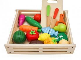 """Игровой набор из дерева """"фрукты и овощи"""""""