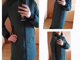 Новое утепленное пальто куртка на осень 40 и 42
