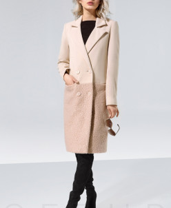 Комбинированное женское пальто