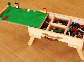 Лего стол-чемодан со складными ножками