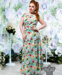 Принтованное платье - 14160