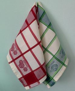 Дача Набор кухонных полотенец Toalla 2 шт (красное / зеленое