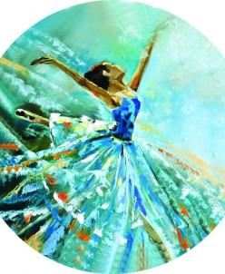 Балерина в голубом - вышивка крестиком