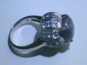 кольцо перстень серебро 925* + сапфир + топазы