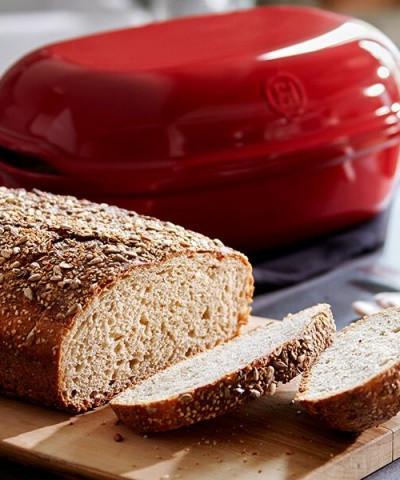 Форма овальная для хлеба, цвет гранат
