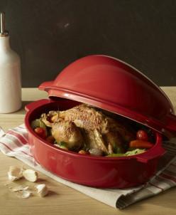 Форма для запекания курицы, цвет: гранат Emile Henry