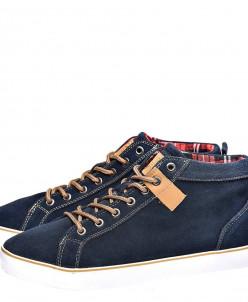 Синие ботинки KEDDO на белой подошве