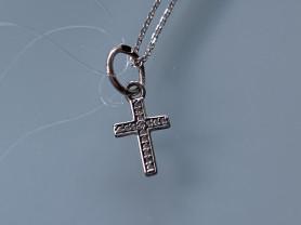 Серебряные Крестик и Цепочка Sunlight/серебро 925