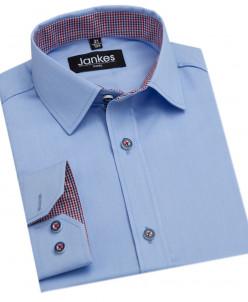 Рубашка голубая 152-158 см