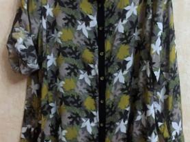 """Стильна рубашка """"Листья"""" GOZZIP Дания 52-54"""