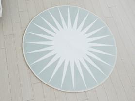 Круглый ковер серого цвета Point 100 х 100 см