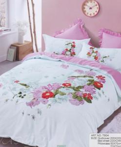Комплект постельного белья, 1,5 спальный (сатин)