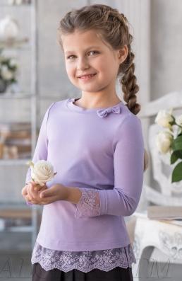 Трикотажная блузка В*ивьен 2017 млад.школа