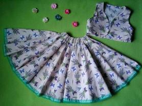 Комплект юбочка с жилеточкой болеро