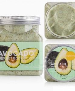 WOKALI, Скраб для тела с Авокадо Sherbet Body Scrub Avocado,