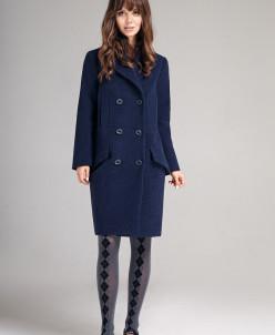 Р1157-С пальто  Цвет: темно-синий