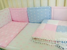 Комплект в кроватку и одеяло-конверт на выписку