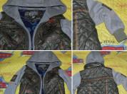 Куртка с капюшоном на флисе рукава с манжетами в о