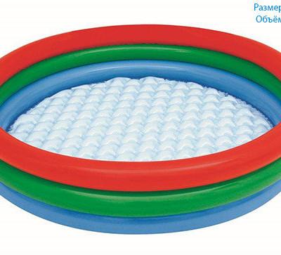 Детский круглый бассейн, 102х25 см, 62 л