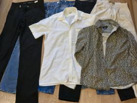 Много мужской одежды
