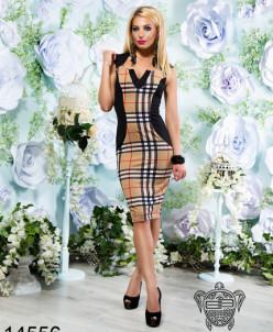 Элегантное платье в клетку - 14556