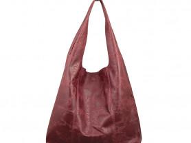 Новая кожаная сумка мешок Италия бордо