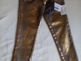 Новые золотые джинсы 5 Microbe Италия 104-110