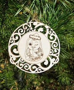 Новогодний шар на елку от Хочуна