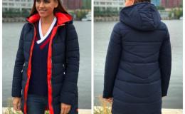 Женская куртка 568 темно-синяя