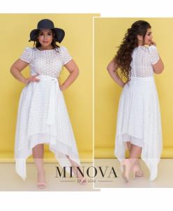 Платье №4114-1-Белый