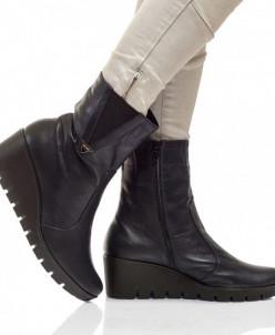 Женские кожаные ботинки на танкетке (байка/экомех)