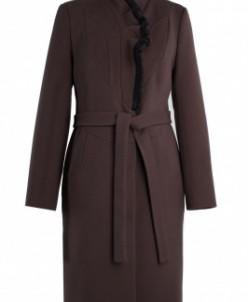 02-0606 Пальто женское утепленное Кашемир Шоколад