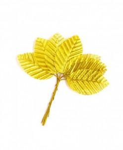 Листочки декоративные MAGIC HOBBY уп.10шт цв. золотой