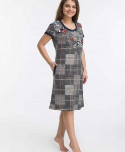 Платье-туника Рузанна (3453). Расцветка: клетка