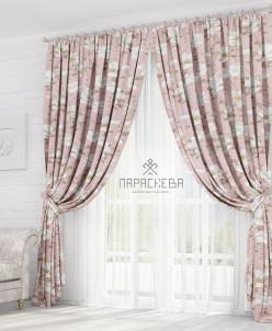 Лотос розовый штора блэкаут арт.13021