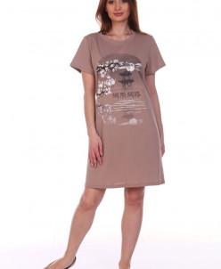 Ночная сорочка (модель: 408бежевый)