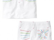 Белая новая джинсовая юбочка Джимбори, 4Т