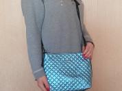 Новая перламутровая сумка натур. кожа Италия