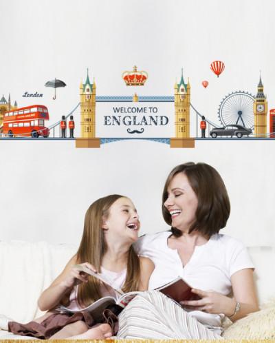 Наклейка многоразовая интерьерная «London»
