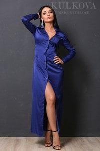Платье Глянец электрик