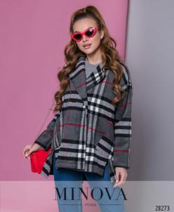 Пальто №637-Серый