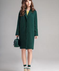 Р1156-B пальто   Цвет: зеленый