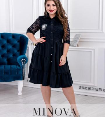 Платье №092-Синий